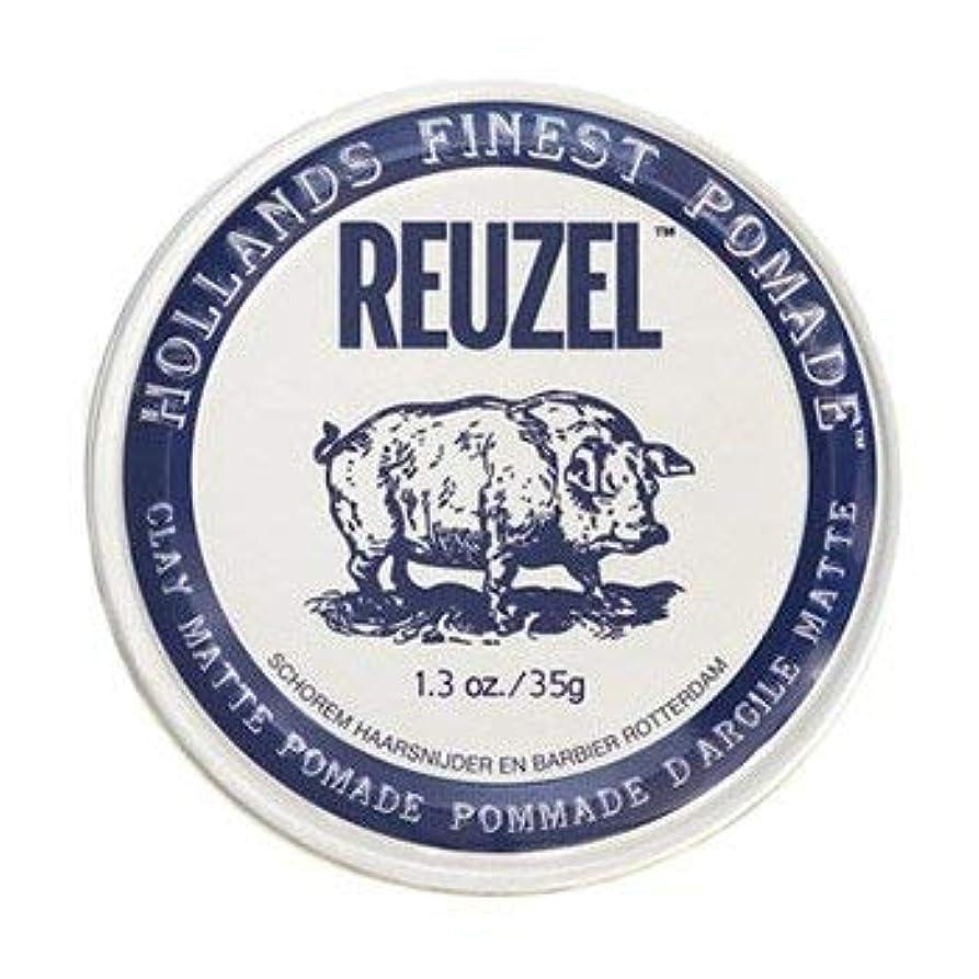 気難しいに沿ってイタリアのルーゾー ホワイト クレイマット ポマード Reuzel White Clay Matte Pomade 35g [並行輸入品]