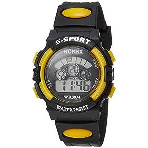 [フォンエックス]HONHX デジタル腕時計 子供用スポーツモデル イエロー H0152 ボーイズ 【並行輸入品】