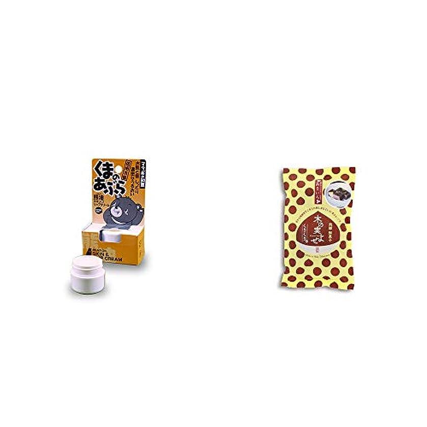 ストッキングアニメーションひどく[2点セット] 信州木曽 くまのあぶら 熊油スキン&リップクリーム(9g)?木の実よせ くりくり味(5個入)