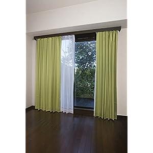 【全12種】セット ドレープカーテン×2枚 レースカーテン×2枚 4枚組 UVカット 洗える 幅100cm×丈135cm 4枚組 イエローグリーン