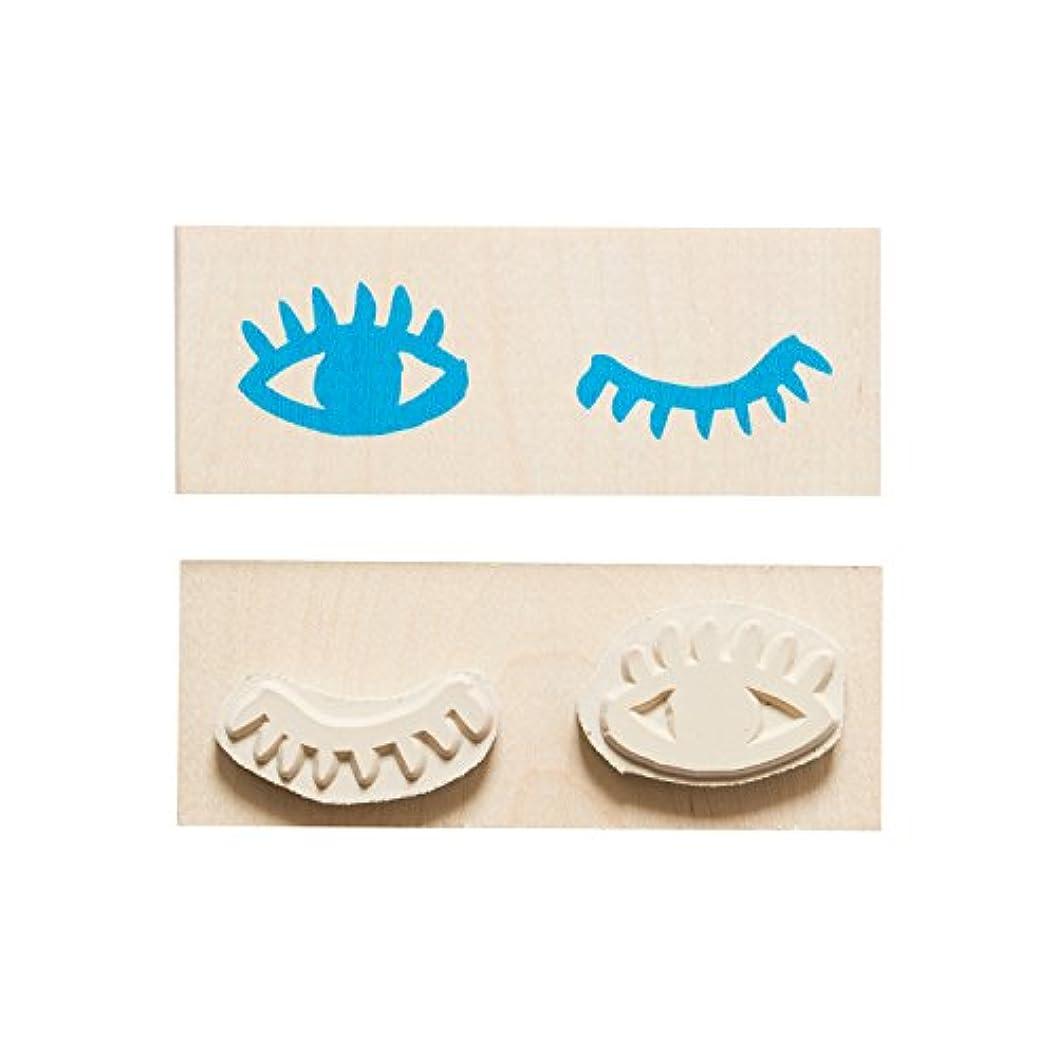 アラブ人虚弱ひどいYellow Owl Workshop アメリカ発キュートなスタンプ <MAKE-IT-MINE Rubber Stamp EYES WINK アイズウィンク > YO-LS111