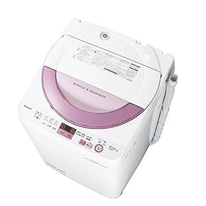 シャープ全自動洗濯機 穴なし槽 6kg ピンク ES-GE6A-P