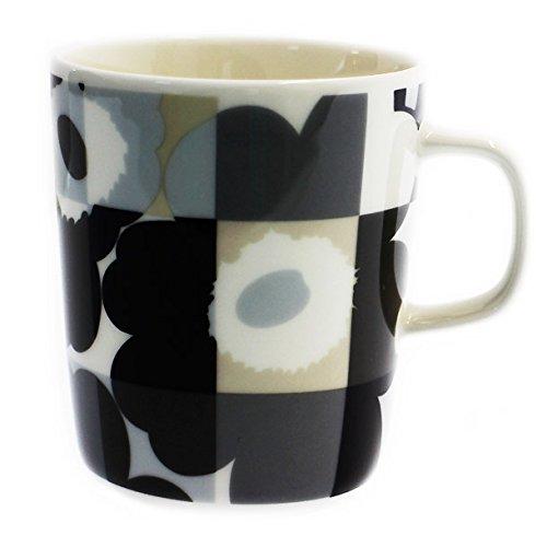 MARIMEKKO マグカップ 067304-990 RUUTU-UNIKKO ルートゥ ウニッコ ブラック [並行輸入品]