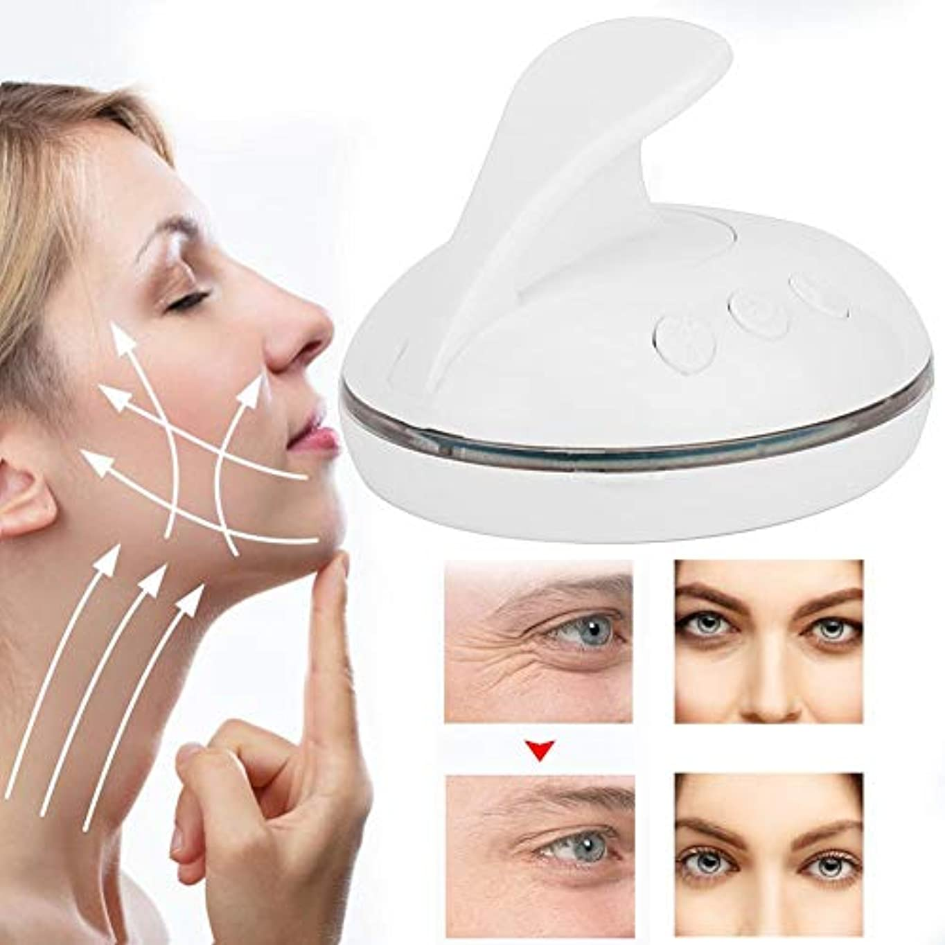 娘エスカレート鳴らすLEDの顔のスキンケア機械、3色の軽い若返りの器械の改装の反老化の表面スキンケアのマッサージャーは顔の反しわをきつく締めます