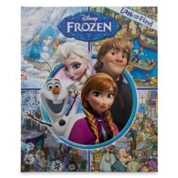 Disney ディズニー frozen US 公式 映画 アナと雪の女王 look and find 見て、見つける 絵本 脳を育てる 知育 英語の勉強 さあ、探しましょう!