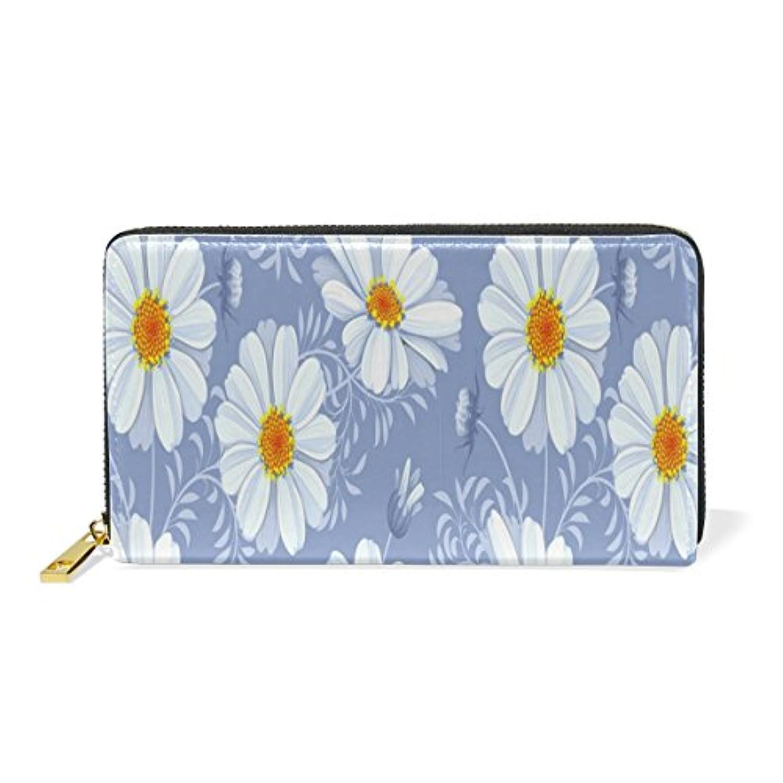 Anmumi 財布 長財布 二つ折り レディーズ puレザー 人気 花柄 レディース 通勤 通学 おしゃれ 持ちやすい かわいい カード入れ
