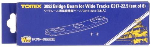 TOMIX Nゲージ 3092 ワイドレール用単線橋脚ベースC317-22.5 (8本入)