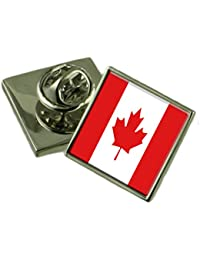 カナダの国旗ラペルピンバッジ 18 mm ギフトポーチを選択します