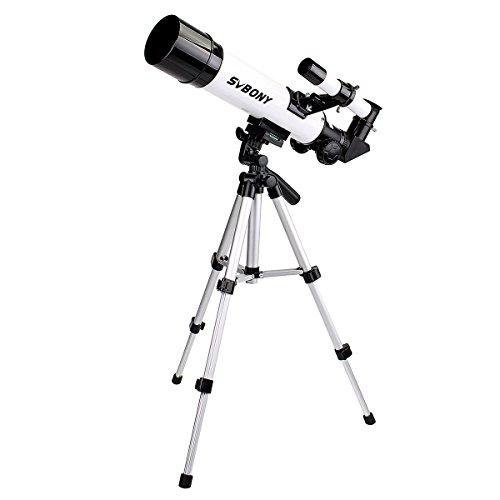 SVBONY SV35天体望遠鏡 経緯台式 屈折式 子供 初心者 天体観察 操作簡単 スマホアダプタ 三脚 日本語のマニュアルなど付き (60mm)