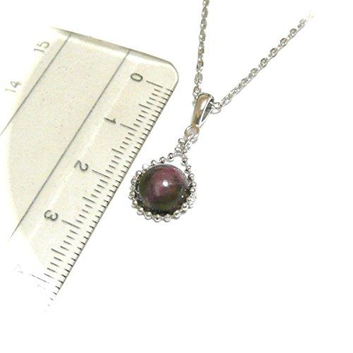 【 シンプリー 】 トルマリン ( ルベライト / 8mm 丸珠 ) ペンダント ネックレス