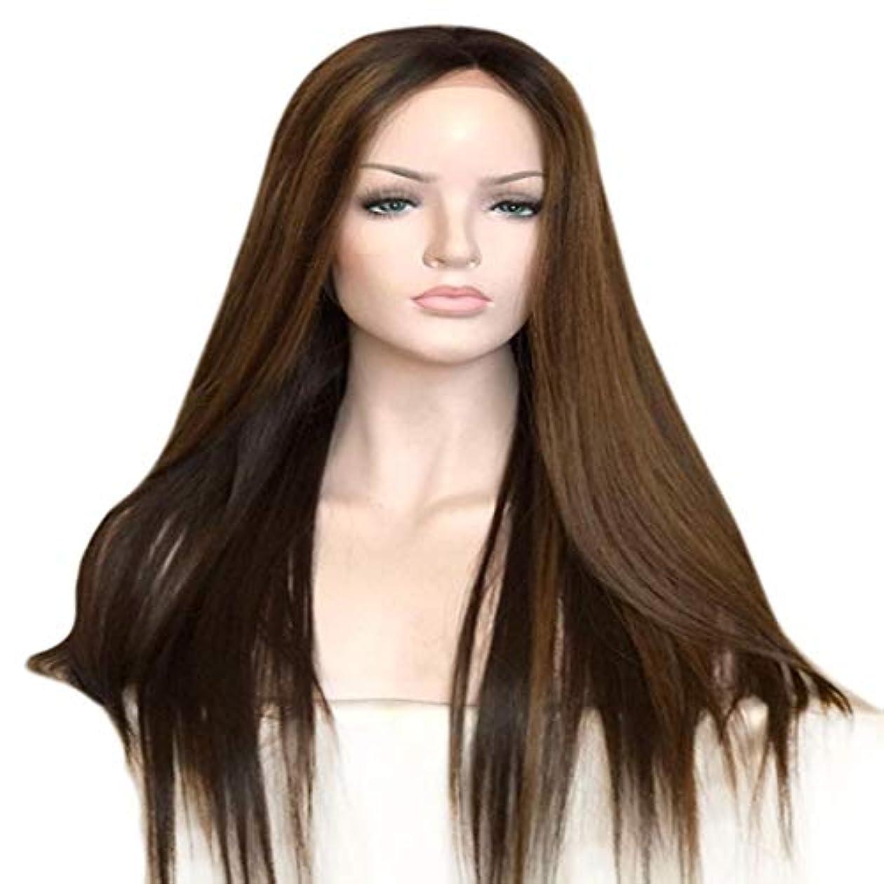 見える運命的なスクリューKoloeplf レディースウィッグロングストレートウィッグヘア100%合成耐熱性ストレートウィッグ女性用 (Size : 65cm)