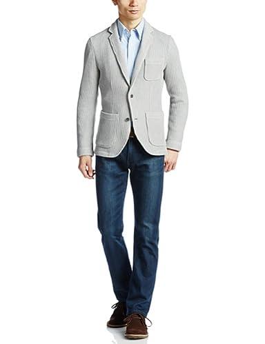 Cotton Raschel Knit Jacket 112-30-0011: Grey