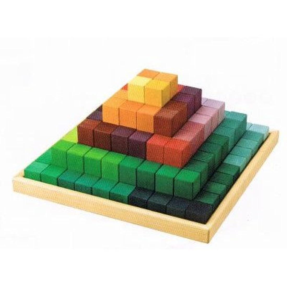 文房具日証拠グリムス にじのステップブロック 木のおもちゃ 積木