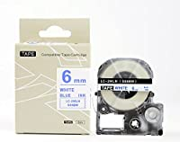 キングジム テプラPro用 互換 テープカートリッジ SS6BW(SS6Bの強粘着) 6mm 白地青文字