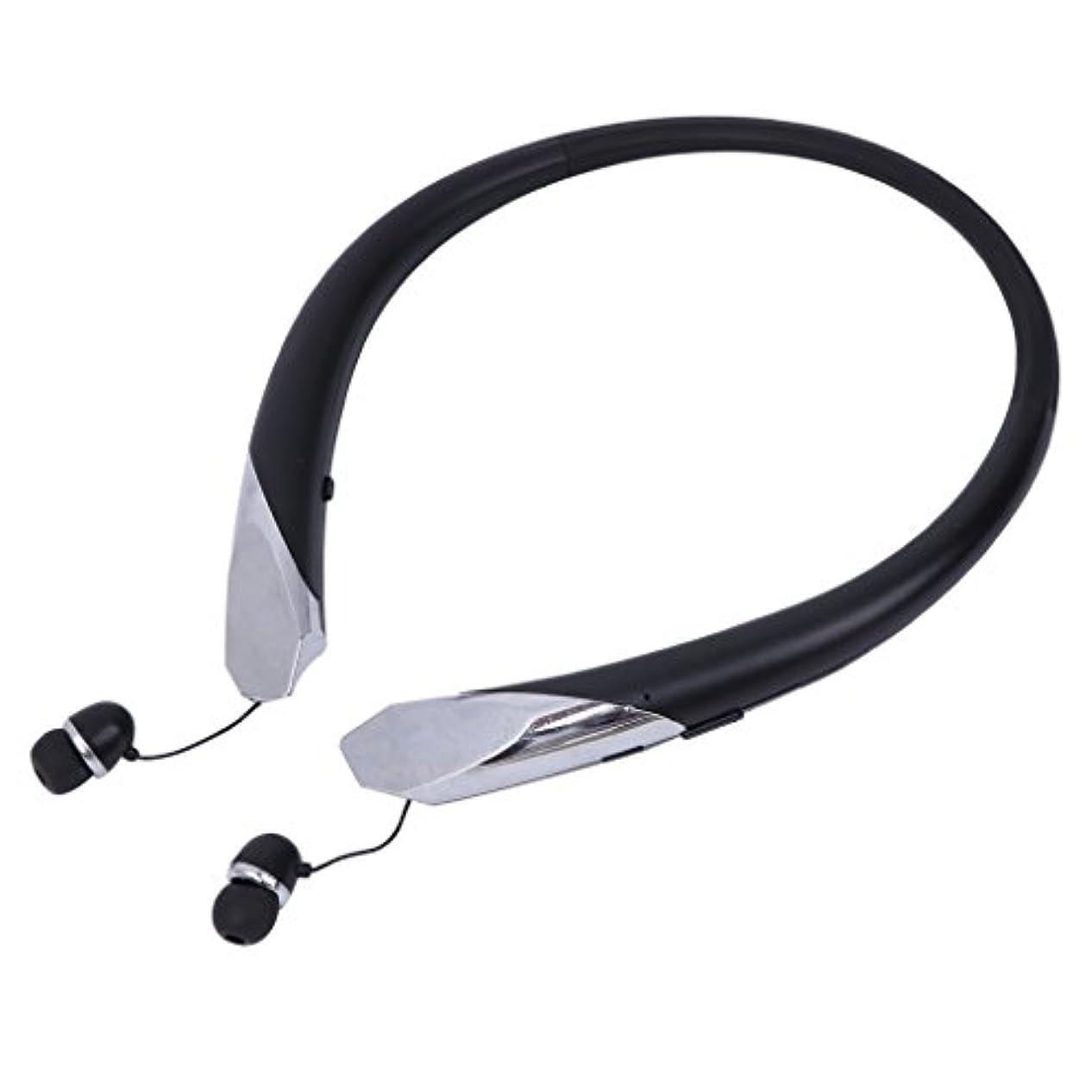 分数ウイルス群衆マスタリーBluetoothヘッドフォンネックバンドイヤホンiPhone用ワイヤレススポーツヘッドセットAndroid、ステレオサウンド、ノイズキャンセリング、エクササイズ用イヤーイヤホン
