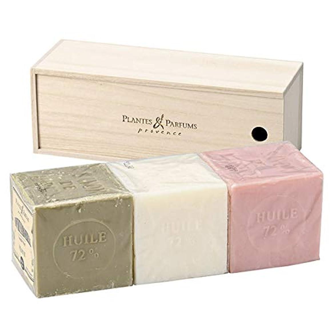 チラチラするドナー信頼できるPlantes&Parfums [プランツ&パルファム] マルセイユソープ400gセット[木箱] O&N&R