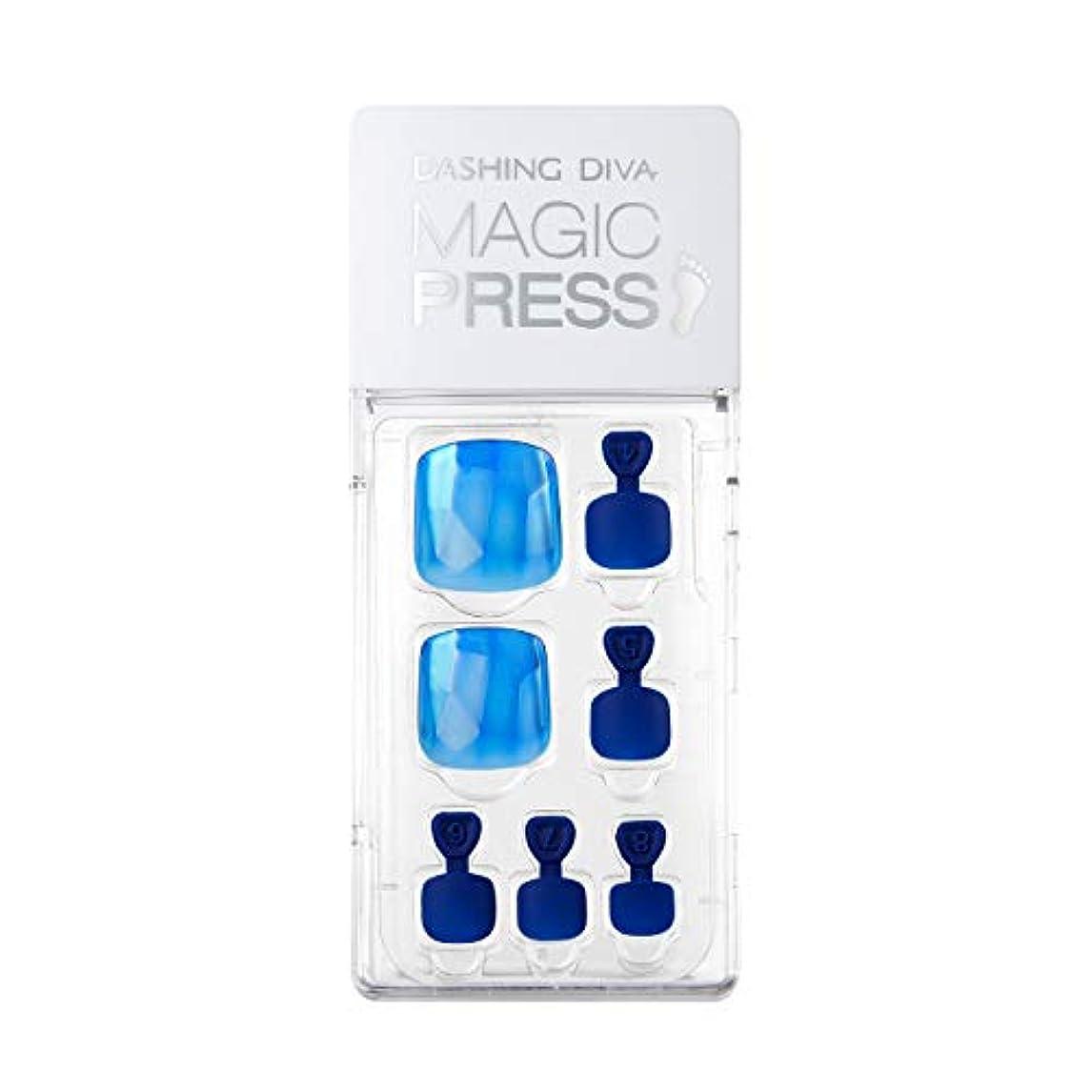 ページ症候群匿名ダッシングディバ マジックプレス DASHING DIVA MagicPress MDR_362P-DURY+ オリジナルジェル ネイルチップ Blue Gem