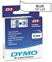 Genuine DYMO 1/2 (12mm) Blue on White D1 Label Tape for Electronic Dymo LabelPoint 100 Label Maker [並行輸入品]