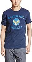 (アルファインダストリーズ)ALPHA INDUSTRIES INC 半袖 プリントTシャツ ALPHA FORCE TC1107-2 04 NAVY XL