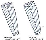 レワード ストライプ ユニフォームパンツ ズボン レギュラー ジュニア用 JUP-141 06ホワイト×ネイビーストライプ 140