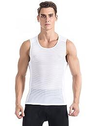 TOMSHOO  超軽量 コンプレッションウェア スポーツシャツ ベースレイヤー メッシュ ノースリーブ スリーブレス メンズ 吸汗速乾 バスケットボール サッカー