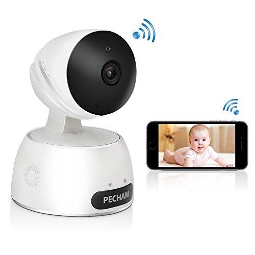 PECHAM ネットワークカメラ スピーカー・マイク内臓 暗視撮影 IPカメラ ペット子供見守り スマホ パソコン対応