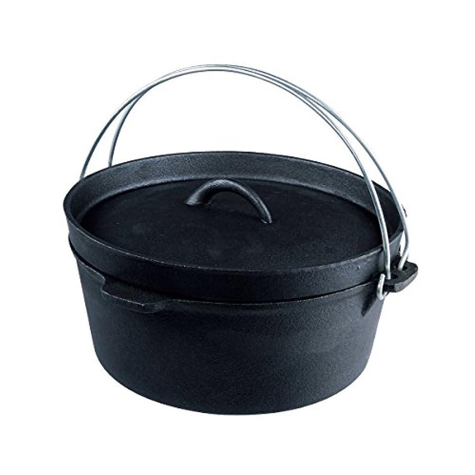 短くするラップベーシックBUNDOK(バンドック) ダッヂ オーブン リッドリフター付 BD-381 4.2L バーベキュー キャンプ 料理
