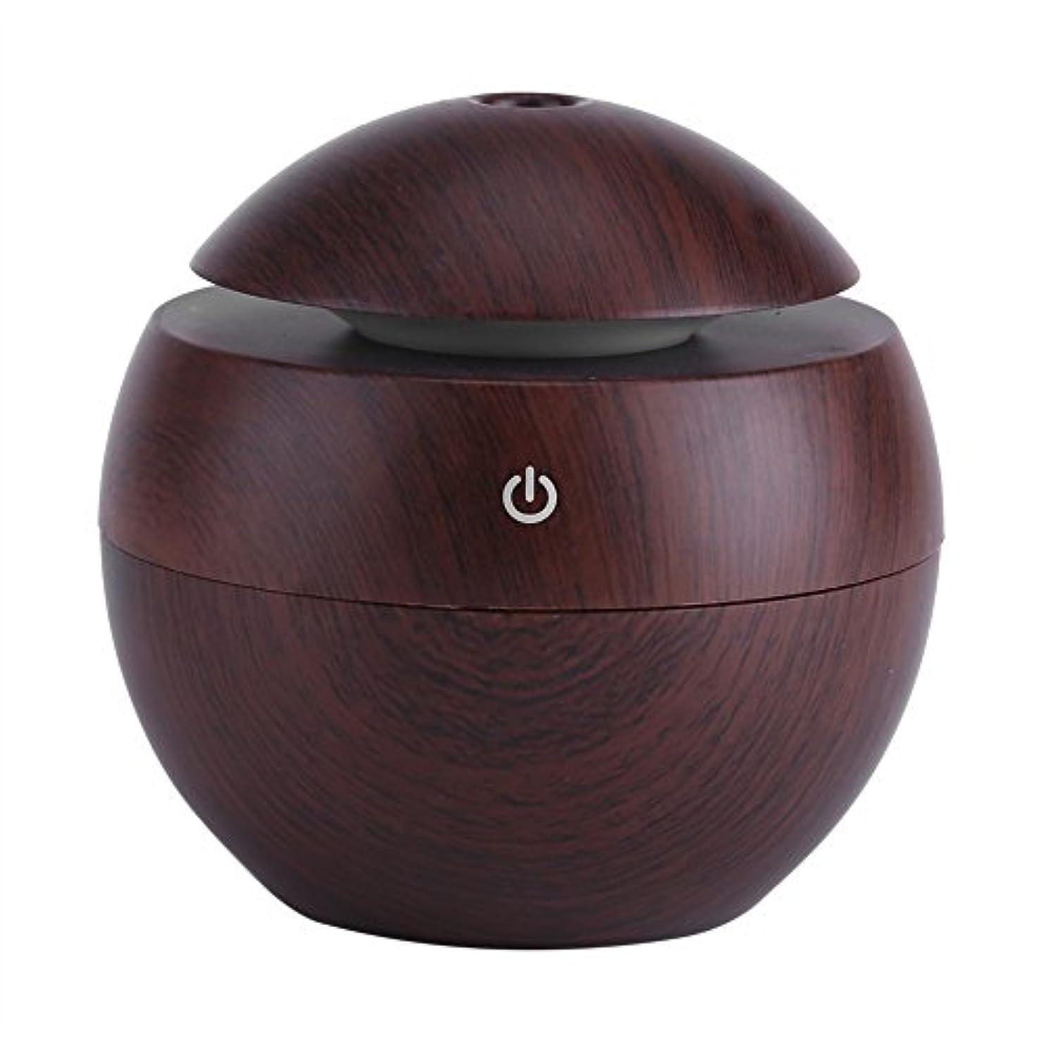 キャストバズ第二に空気清浄器、USBの必要なLEDの接触香りの超音波加湿器オイルの拡散器の空気清浄器(褐色)