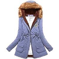 Womens Faux Fur Hoodie Lined Military Fashion Parka Anroaks Jacket ArmyGreen S