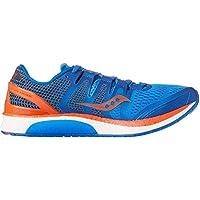 Saucony Liberty Iso Men's Running Shoes, Blue/Orange, 8.5 US