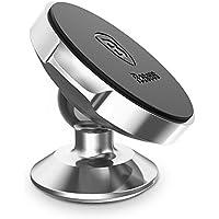 Baseus スマートフォン 車載ホルダー マグネット式 360度回転 スマホホルダー 車載用 iPhone Galaxy に対応 (シルバー)
