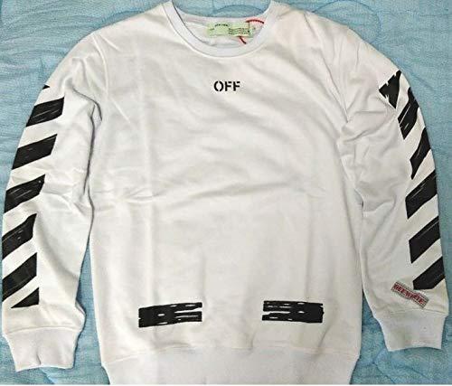 OFF-WHITE オフホワイト パーカー メンズ レディース 男女兼用 3色 長袖 コットン (L, ホワイト)