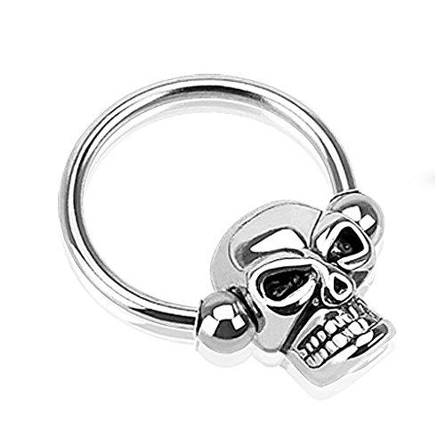 [해외][라플라스] laplace 바디 피어싱 body-piercing 스컬 헤드 포로 구슬 반지 14G | 16G/[Laplace] laplace body piercing body-piercing skull head captive bead ring 14G | 16G