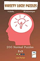 Variety Logic Puzzles - Hidoku, Minesweeper 200 Normal Puzzles 9x9 Book 22