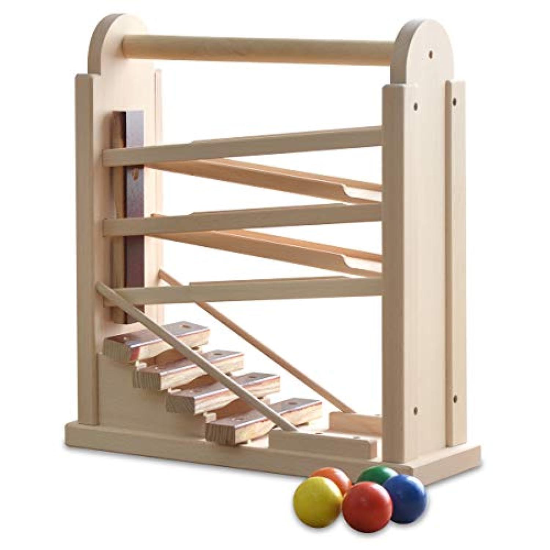 【日本製】 コロコロシロホン 木製 木琴 ボール6個付 天然木 木のおもちゃ 知育玩具 国産 男の子 女の子 幼児 子供 ナチュラル