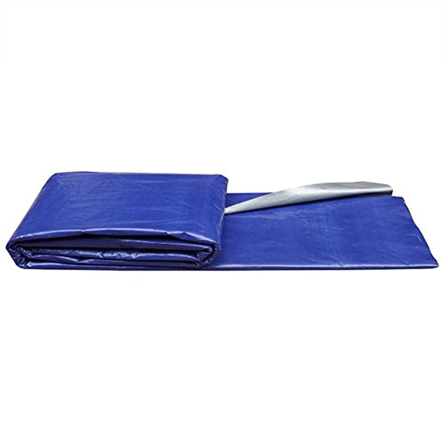 どんよりした決めます先祖12J-weihuiwangluo 屋外のテントの防水シート、耐雨性の日焼け止めの防水シートの車の防水シートの貨物防塵の防風の高温反老化のテントの布 (Color : 青, サイズ : 6x18m)