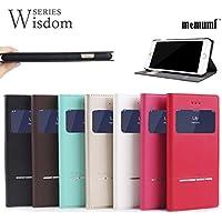 Memumi メムミ【iPhone6/6s 対応】Wisdom SERIES【PUレザーフラップケース】超薄型13mm・閉じたまま受話操作可能・ワンタッチ開閉・スタンド機能 (レッド) AFC8414