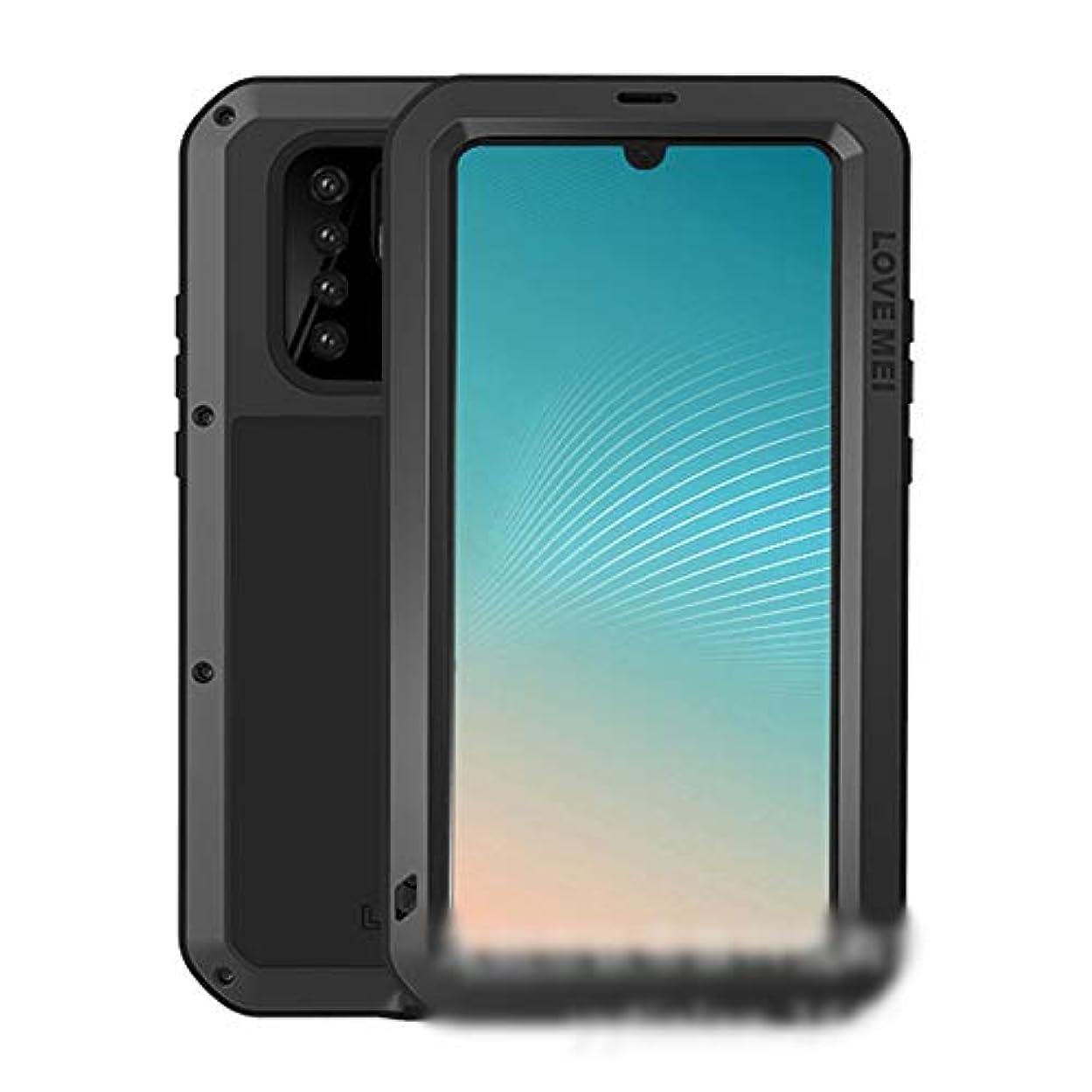 可能性くぼみ充電Tonglilili 電話ケース、Huawei P20、P20 Pro、P30 Pro、P30、Mate10、Mate10 Pro、P30 Lite、Nova 4e、Mate20、Mate20 Pro、Mate20 Lite、Mate10 Pro用の3つの抗携帯電話シェルメタルドロップ保護スリーブ新しい電話ケース、Mate10、Nova 4、P20 Lite、Nova 3e