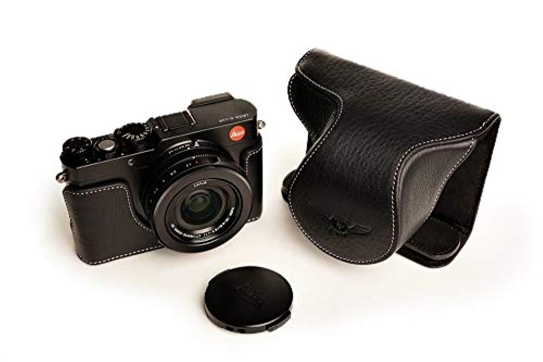 折いつかピンチライカ D-LUX Typ109用本革レンズカバー付カメラケース(電池,SDカード交換可) ブラック