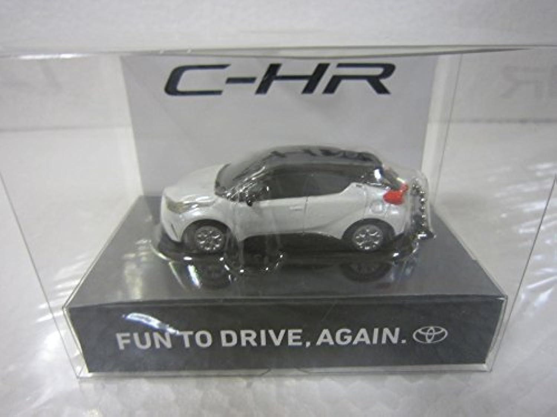 TOYOTA トヨタ 非売品 C-HR(黒X白) プルバックカー 約5cm キーホルダー ライト点灯ギミック付