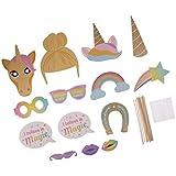 Blesiya 13× 可愛い ユニコーン 虹 面白い ハンドヘルド 写真ブース プロップ 誕生日パーティー 遊び具