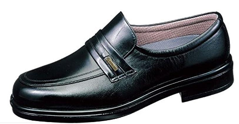 鍔病的祈り通勤快足 TK31-26 ブラック(足囲4E) 雨に負けない爽快ビジネスシューズ 濡れない。蒸れにくい。滑りにくい。男性用デザイン。