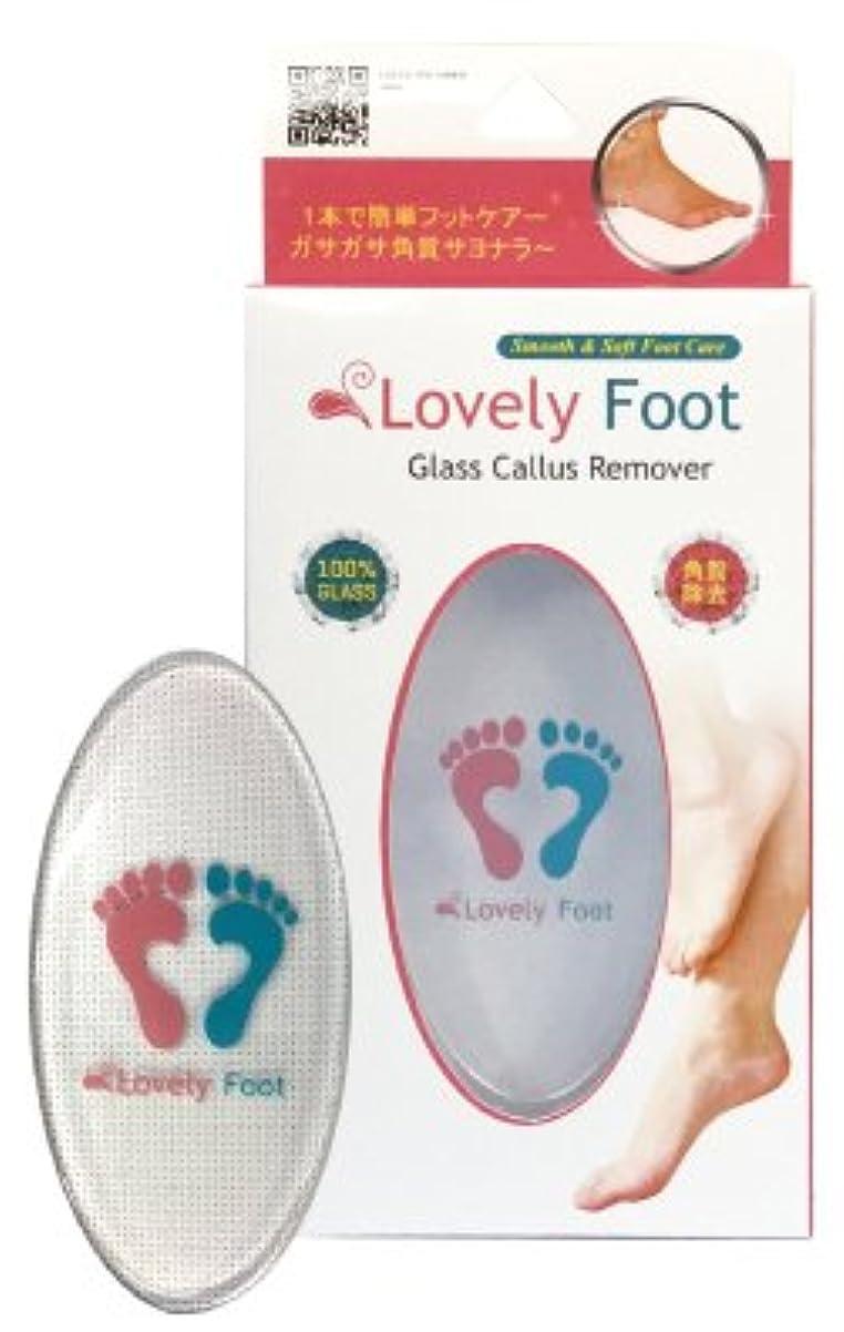 へこみ特許著名なLovely Foot Glass Callus Remover (ガラス角質取り)