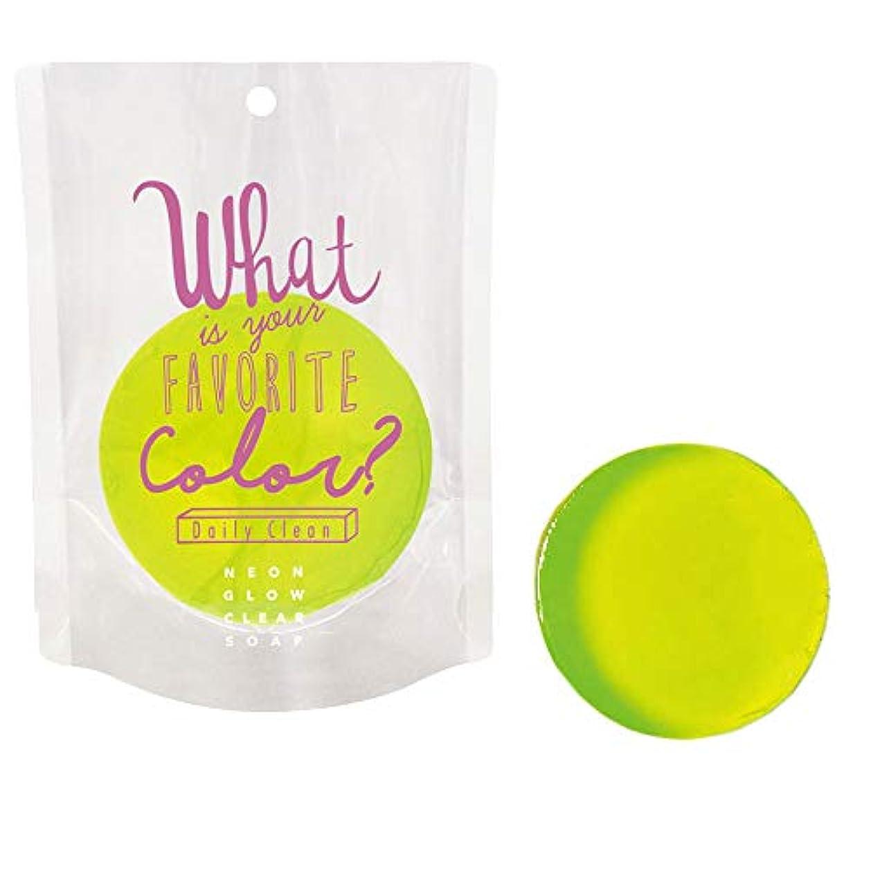民間人失敗ボーダーネオングロークリアソープ ob-ngw-2-1-4(02/パパイヤ) Neon Glow Clear Soap 石鹸 ノルコーポレーション 固形 せっけん カラフル 香り 清潔 ギフト プレゼント