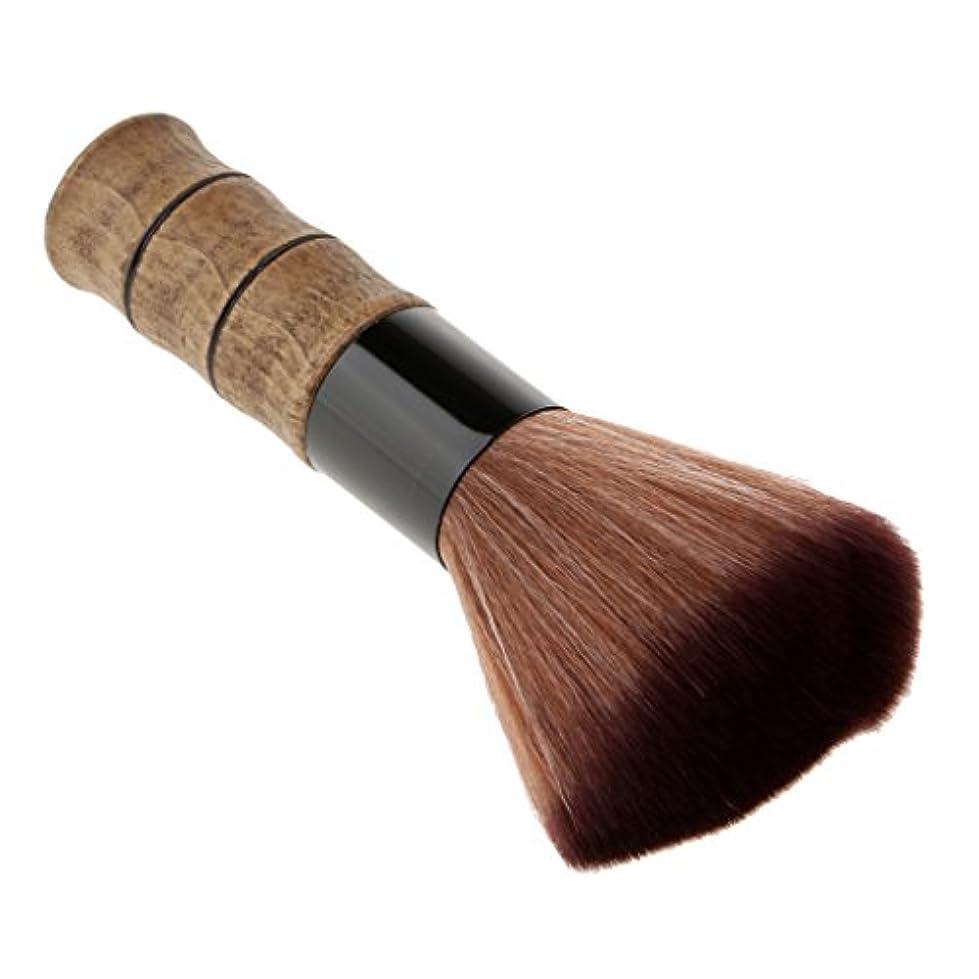麦芽内向きを除くBlesiya シェービングブラシ 洗顔 化粧ブラシ メイクブラシ ソフトファイバー ブラシ スキンケア メイクアップ 高品質 2色選べる - 褐色