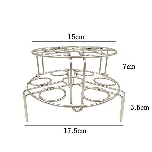 二段たまごゆでホルダー HULISEN 18-8ステンレス 積み重ねる 高品質 圧力鍋など ゆで卵用