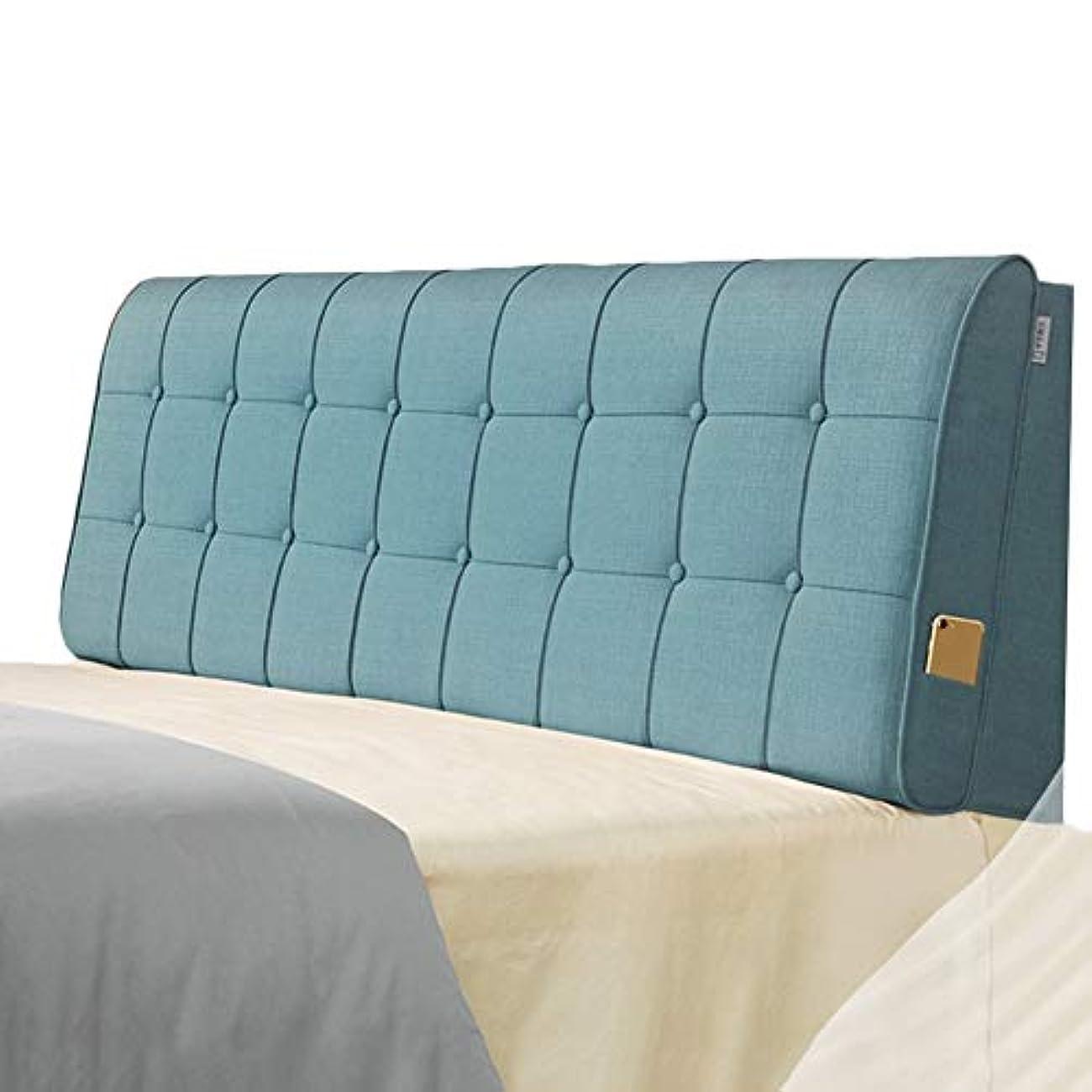 趣味評価可能手荷物LIANGLIANG クッションベッドの背もたれ ベッドルームベッドサイドソフトケース背もたれダブル人物余分な布スポンジ充填、5色、4サイズ (色 : 青, サイズ さいず : 150x60x10cm)