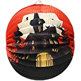 COMVIP 万聖節 装飾品 紙提灯 バー デコレーション ペーパーランタン ハロウィン 折りたたみ 紙製 雰囲気 学園祭 文化祭 お化け屋敷 城