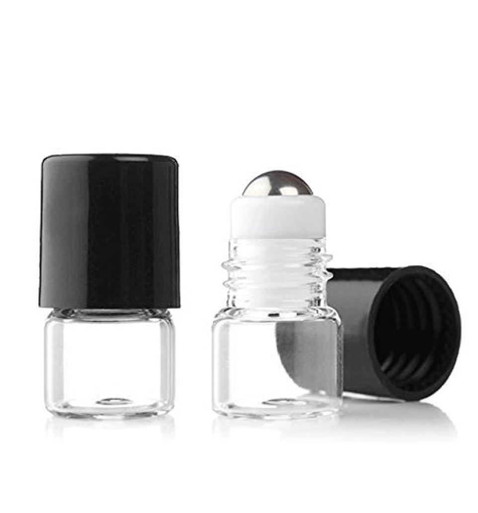 酸度元の留め金Grand Parfums Empty 1ml Micro Mini Rollon Dram Glass Bottles with Metal Roller Balls - Refillable Aromatherapy...