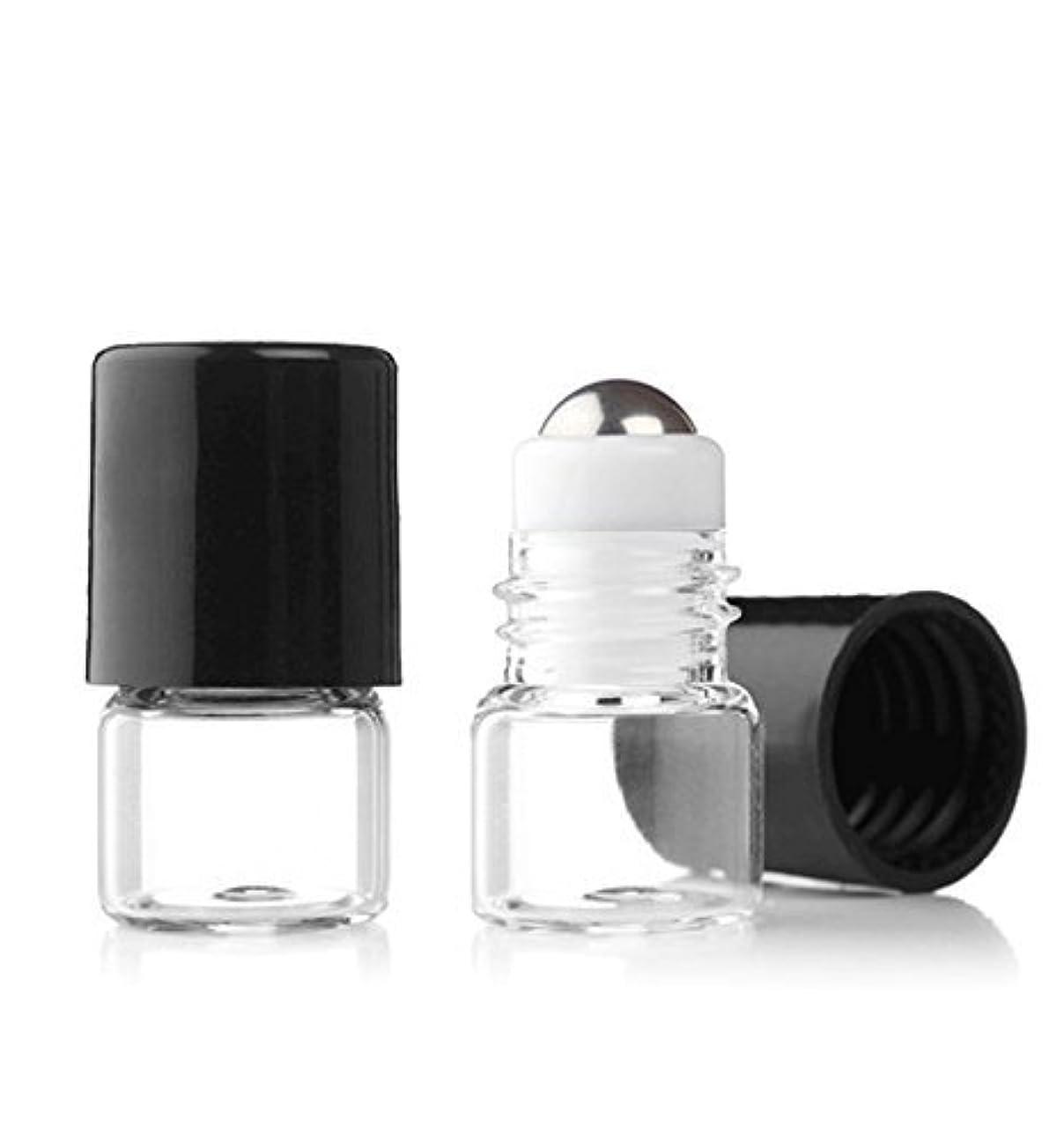 テロ銃半ばGrand Parfums Empty 1ml Micro Mini Rollon Dram Glass Bottles with Metal Roller Balls - Refillable Aromatherapy...